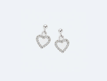 Silver Heart Earrings img