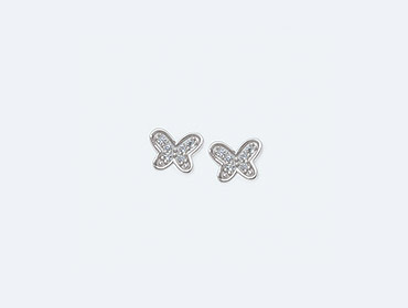 Sterling Silver Butterfly Earrings img
