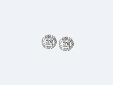 Silver Cubic Round Earrings img