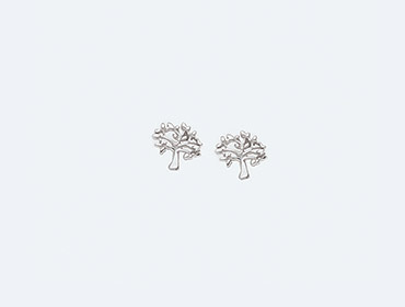 Silver Tree of Life Earrings img