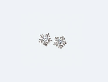 Silver Snow Flake Earrings img