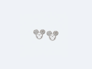 Silver Mickey Mouse Earrings img