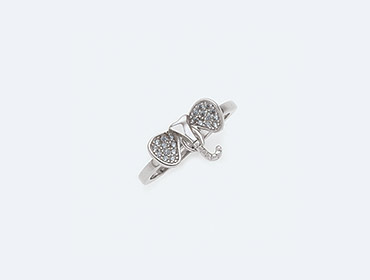 Silver Curio Charm Ring img